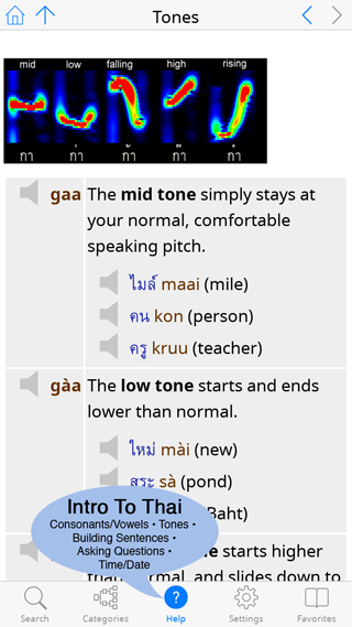 Tones section of our Introduction to Thai